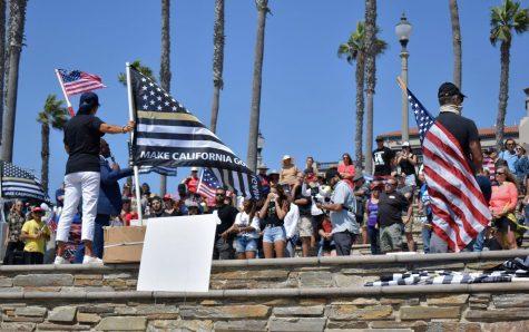 Protestors rally against California