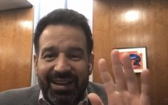 President Fierro acknowledges viewers as they join his Instagram live for President's Hour. Students, staff, parents and visitors ask questions regarding any updates Fierro has about Cerritos College on Aug. 31, 2021.