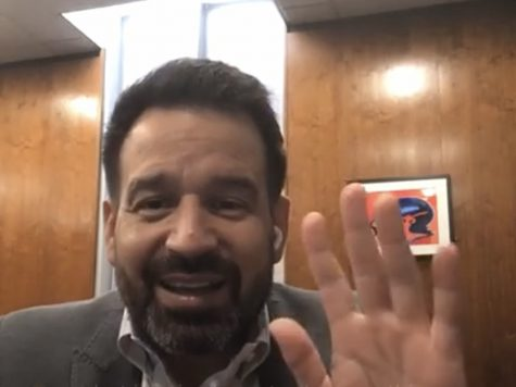 President Fierro acknowledges viewers as they join his Instagram live for President