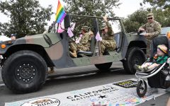 Soldiers of the 79th Infantry Division Combat Team participated in the San Diego Pride Parade. Attendance of the pride parade including 79th IBCT Soldiers and other service members signed the California National Guard's banner on July 13, 2019. Photo credit: California National Guard