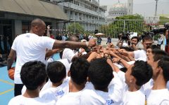 Embassy Jakarta Teams Up with the NBA to Grow Basketball Interest in Indonesia. NBA coaches and Golden State Warriors power forward, Marreese Speights, at an NBA Cares event at the Embassy Annex on Aug. 27, 2015. Photo Credit: U.S. Embassy, Jakarta/Creative Commons