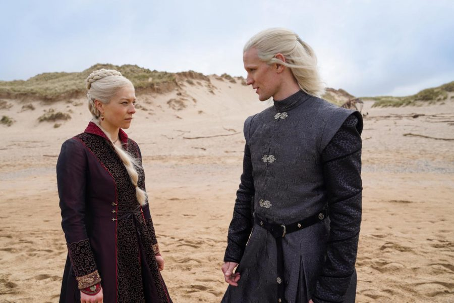 Emma D'Arcy as Princess Rhaenyra Targaryen and Matt Smith as Prince Daemon Targaryen Photograph by Ollie Upton/HBO Photo credit: Ollie Upton/HBO