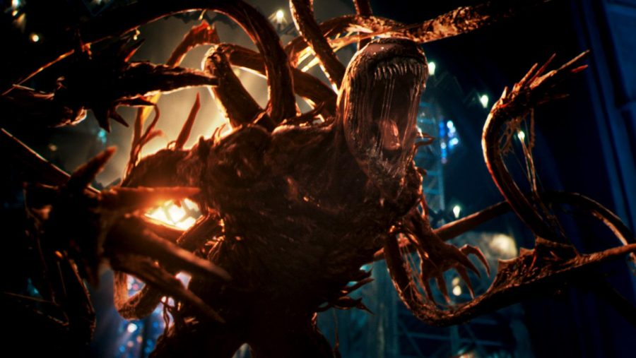 Carnage in the film Venom: Let There Be Carnage. Photo credit: Courtesy Sony Pictures Entertainment/TNS